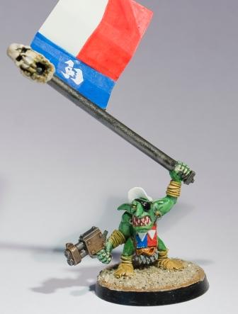 Grot Standard bearer - Da Teksas Rangerz (slugga boyz)