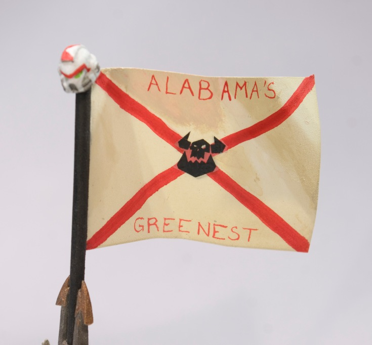 Regimental standard (detail) - Alabama's Greenest (shoota boyz)