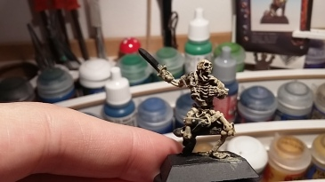 When all the dry brushing is done (the last one -pure screaming skull- is used to highlight some parts