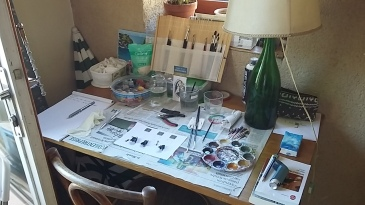 The workbench in Provence.