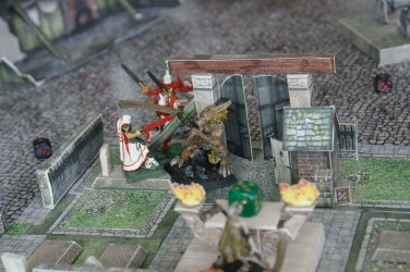 My Inquisitor faces the zombie wolfen.