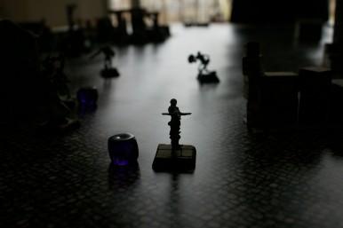 My crossbowman is running away...